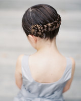 Flower Girl Hairstyle Braid Flower
