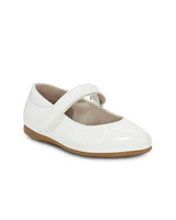 flower girl shoes white synthetic strap