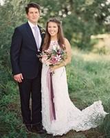 kelsey jacob wedding couple in grass
