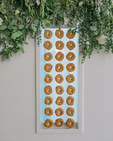 hanging donut display at reception