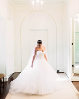 ballgown wedding dress with sweetheart neckline