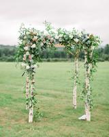 lauren josh wedding ceremony floral chuppah