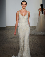 lazaro fall 2019 sheath floral applique wedding dress