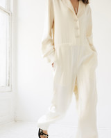 lein wedding dress spring 2020 long sleeve buttoned jumpsuit