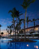 sunset resort palm trees