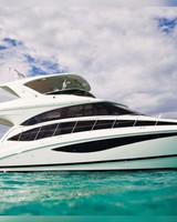 yacht in ocean