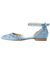 shoes that won't Sink Marchesa blue flats