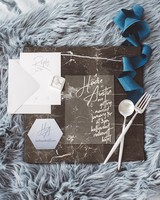 bright wedding invitation