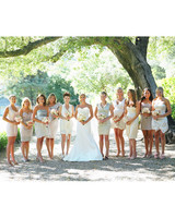modern wedding bridal party color palette