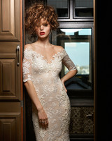 olvi wedding dress spring 2019 off-the-shoulder short-sleeved v-neck