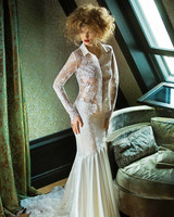 olvi wedding dress spring 2019 collared sheer shirt and skirt separates