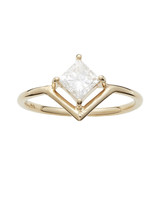 princess cut ring wwake gold