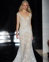Reem Acra sexy wedding gown