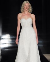 Reem Acra Simple Bustier Wedding Dress