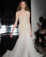 Reem Acra Tulle Mermaid Gown