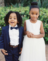 ring bearer flower girl navy blue