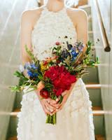 rose chris wedding bouquet