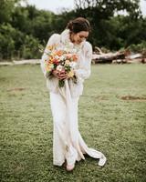 shannon jason wedding bride bouquet
