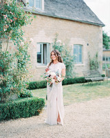 bride wearing Wisteria gown