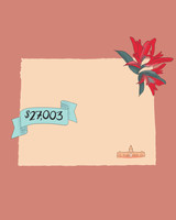 state wedding costs illustration wyoming