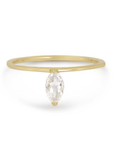 Solid Yellow Gold Rose Marquise Diamond engagement ring