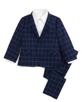 checked ring bearer suit