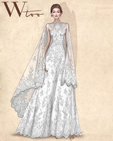 wtoo wedding dress sketch