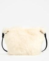 zara faux fur crossbody bag