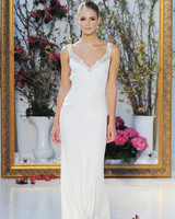 Anne Barge Simple Column Wedding Dress