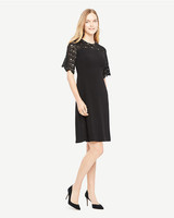 black quarter sleeve dress
