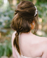 bridal ponytail twisted