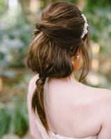 bridal ponytail twisted