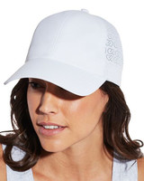 white ball cap