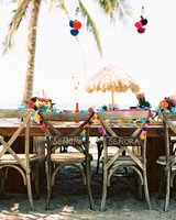 Chair Decor Beach Driftwood Pom Pom Sign