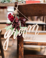 Chair Decor Groom Sign