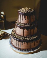 Tiered Chocolate Drip Cake