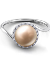 Danhov Pearl Engagement Ring