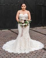 daniela andrei wedding bride