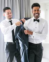 danielle kevin wedding groom gettting ready