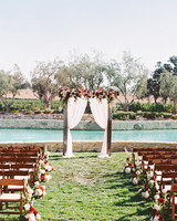 dianna amar wedding ceremony arch and water way
