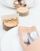 wooden place card