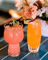 hanna will wedding outdoor cocktails
