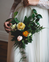 hoop bouquets frances beatty cascading