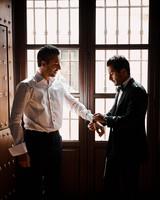 karolina sorab wedding groom help with cuff links