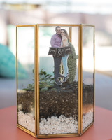 couple photo in terrarium