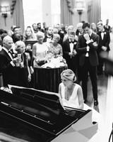 bride surprise wedding piano performance