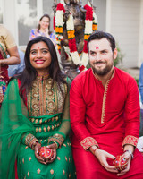 california indian jewish wedding mandva and pithi ceremony