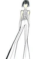 lakum wedding dress sketch