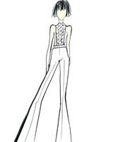 lakum wedding dress sketch