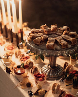 natalie paul wedding candle lit dessert table